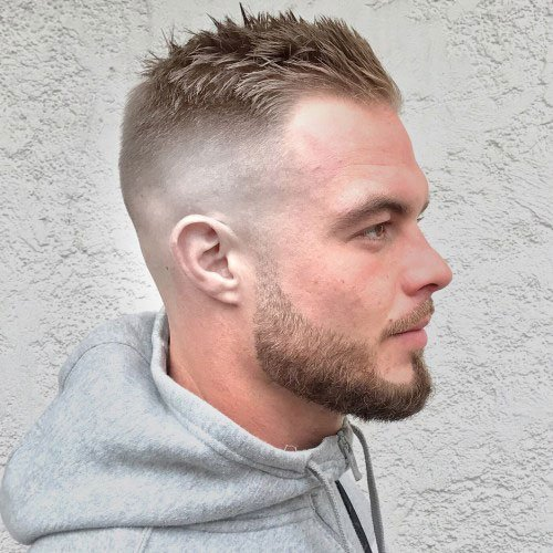Receding hairline fade