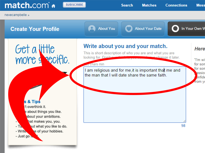 What to write in a online dating email