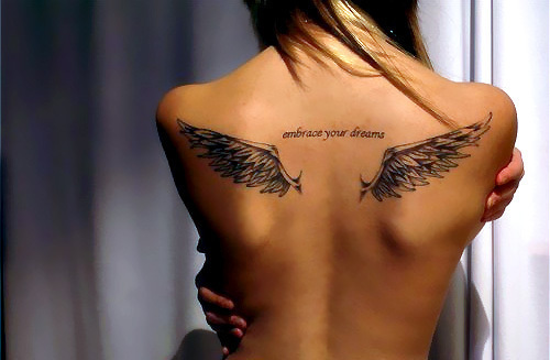 Cool back tattoos for girls