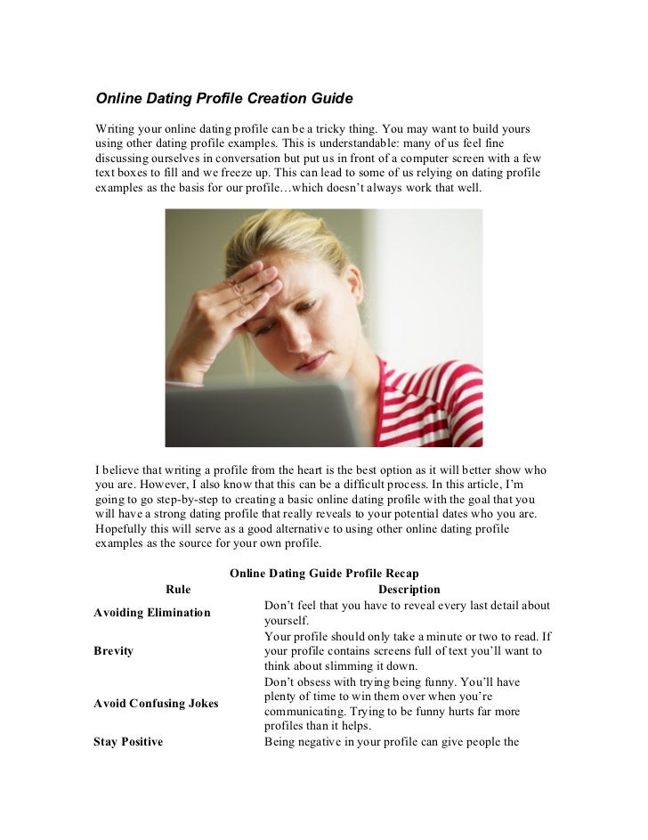 Guide to writing a good dating profile