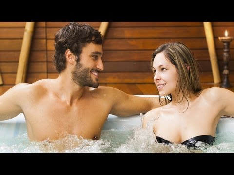 Having sex in the hot tub