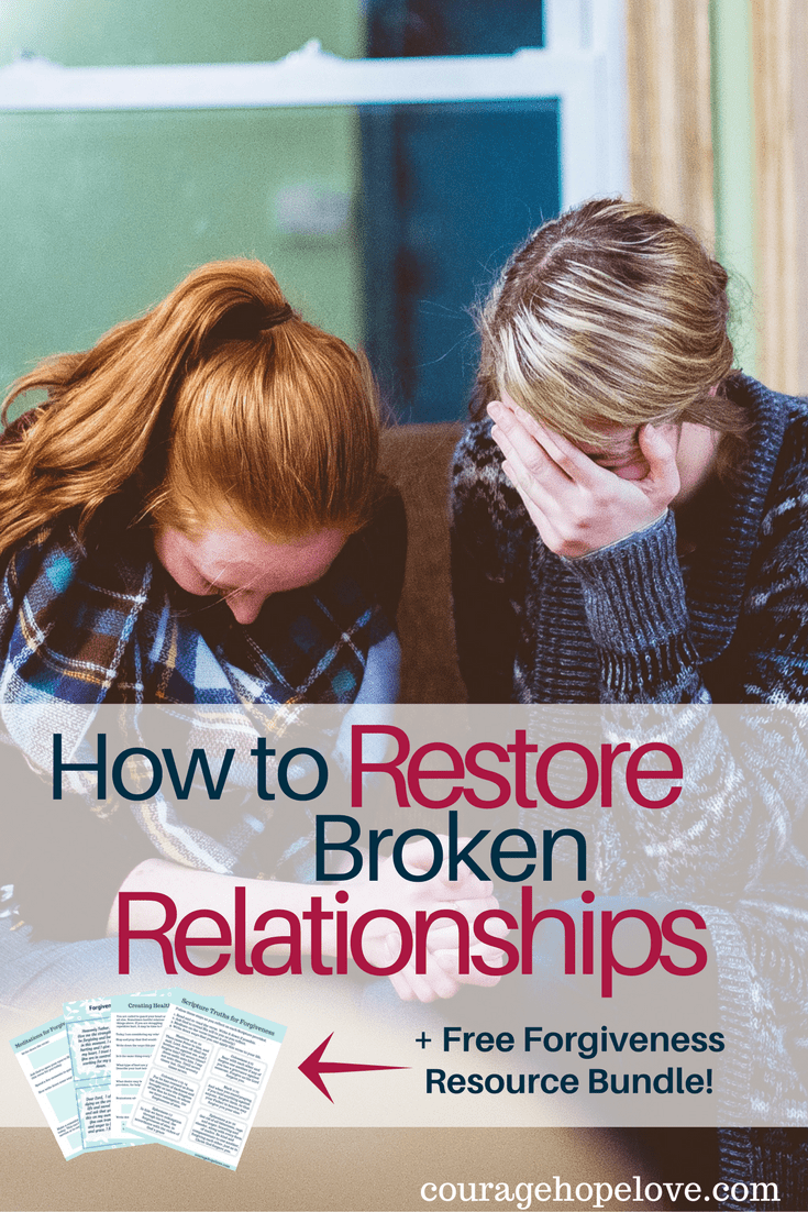 How to patch up broken relationship