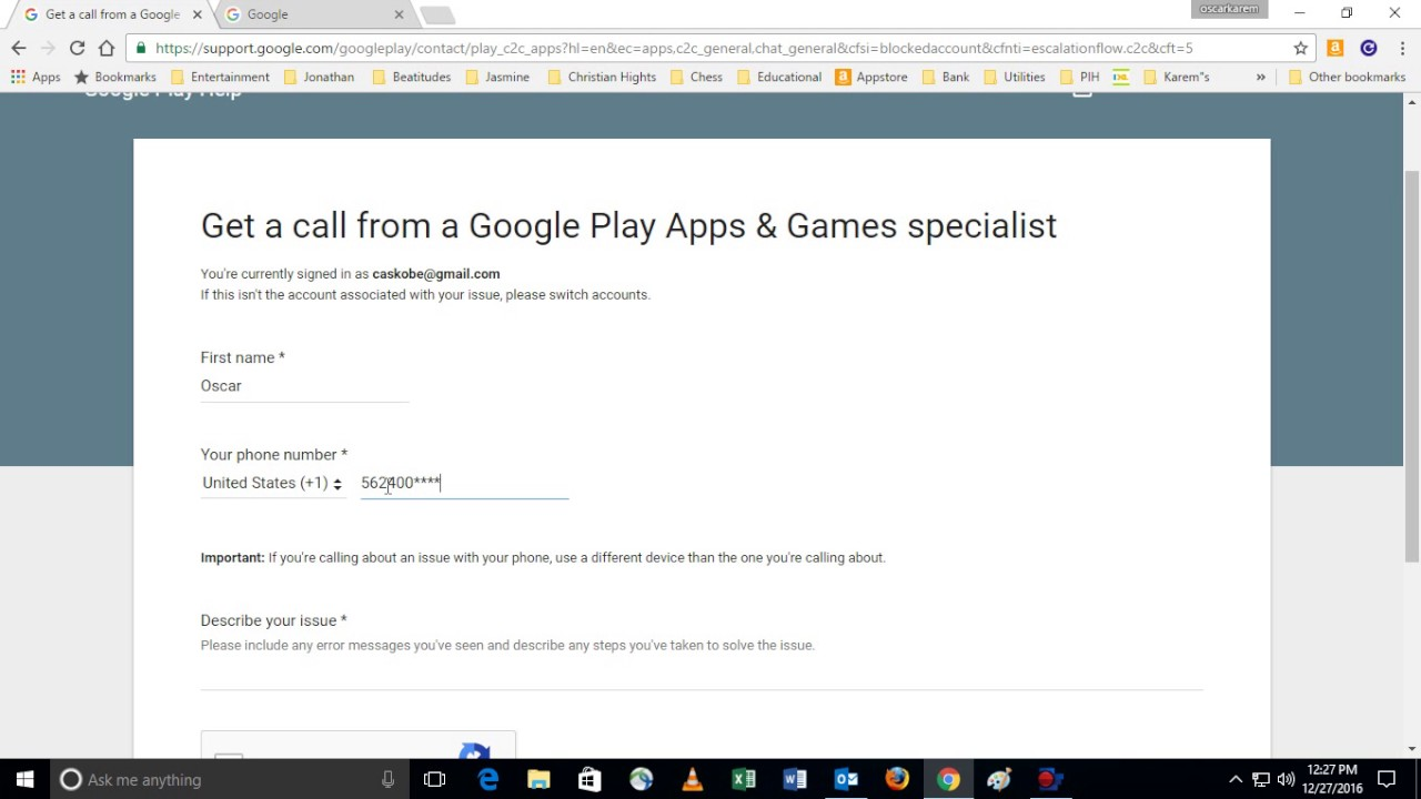 contact google support by phone