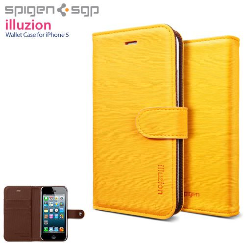 Iphone 5 leather wallet case illuzion