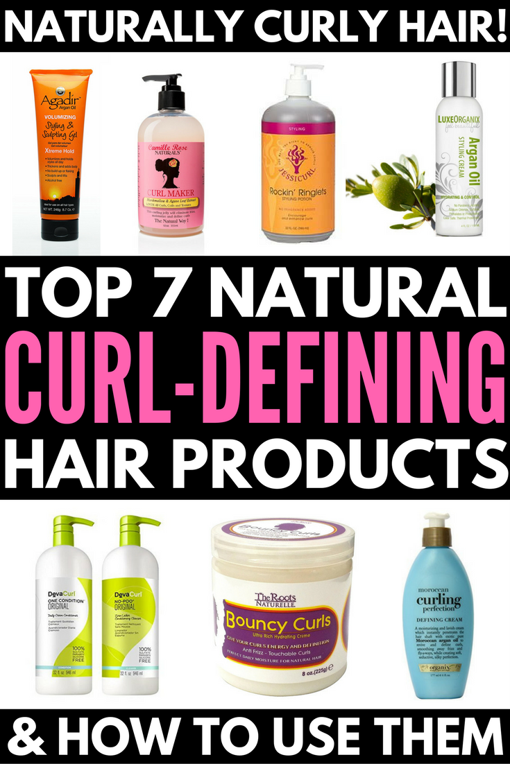 Natural hair styling products for curly hair