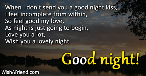 Goodnight message for my bf