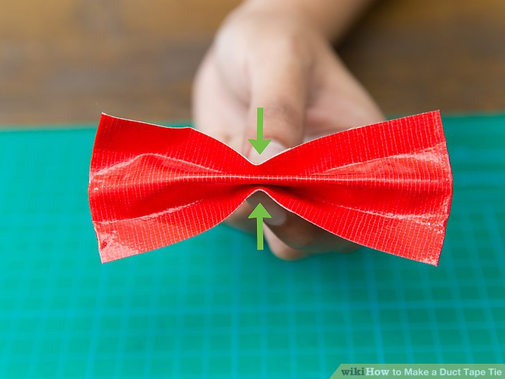 Duct tape bow tie tutorial